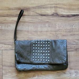 Olive drab clutch/ wristlet purse